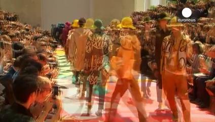 News video: Flare but no flares as colour tailored into men's London catwalk outing